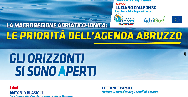 Tanti partecipanti a Pescara per la Macroregione Adriatico-Ionica