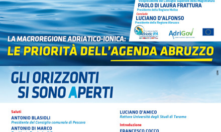 Adriatic-Ionian Macroregion: the priorities of the Abruzzo