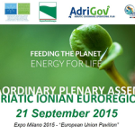 L'Euroregione Adriatico Ionica incontra EXPO 2015