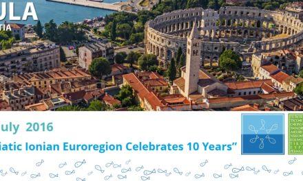 Assemblea Straordinaria per le Celebrazioni del 10° Anniversario dell'Euroregione, Pola, 2 Luglio 2016.