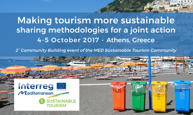 "Secondo evento di Community building del progetto BLEUTOURMED: ""MAKING TOURISM MORE SUSTAINABLE –  SHARING METHODOLOGIES FOR A JOINT ACTION"""