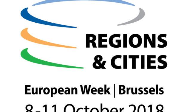 Settimana Europea delle Regioni e delle Città 2018, aperta la fase di registrazione
