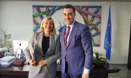 The Vice President of the Euroregion Aldrin Dalipi meets in Tirana the Ambassador of the Republic of Croatia in Albania
