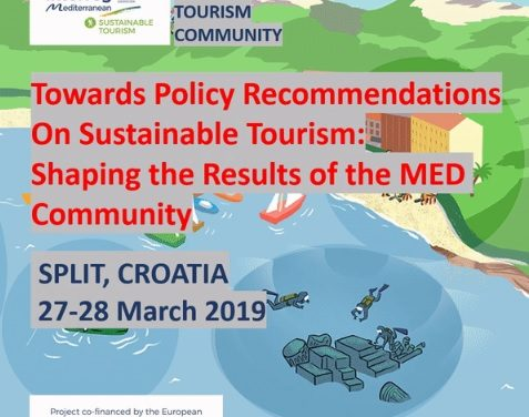 Workshops of the Med Sustainable Tourism Community, Split – Croatia – 27/28 March 2019