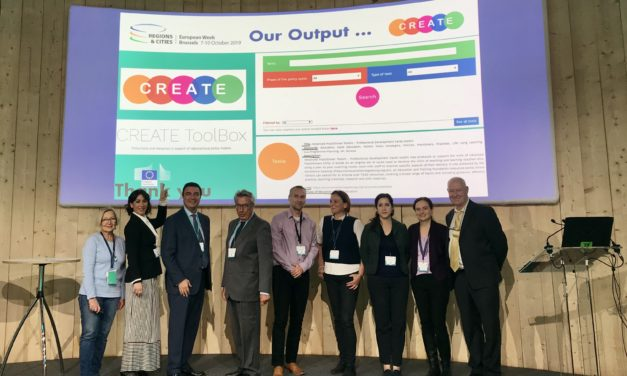 Euroregion at the European Week of Regions and Cities to showcase the results of the CREATE Project funded by Erasmus+