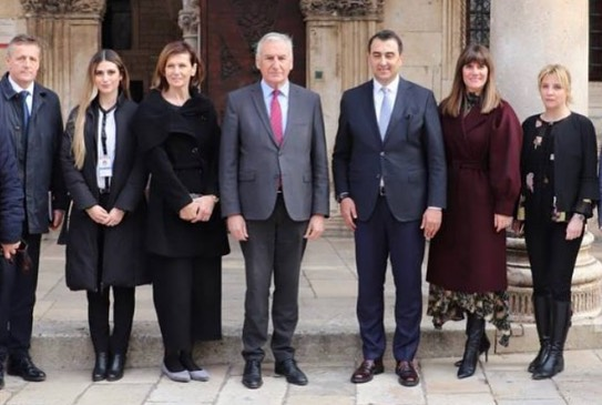 Transnational cooperation between AIE's members, Dubrovnik-Neretva County and Tirana Region,  promoted by President Dobroslavić and Vice-President Dalipi